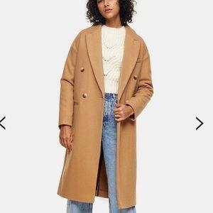 Topshop Camel Coat